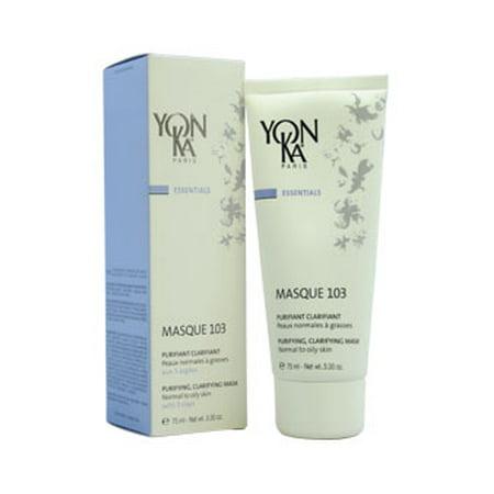 Yonka Essentials Normal to Oily Skin Purifying Clarifying Mask, Masque 103, 3.3 oz