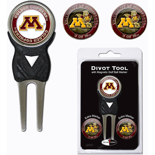 Team Golf NCAA Minnesota Divot Tool Pack With 3 Golf Ball Markers