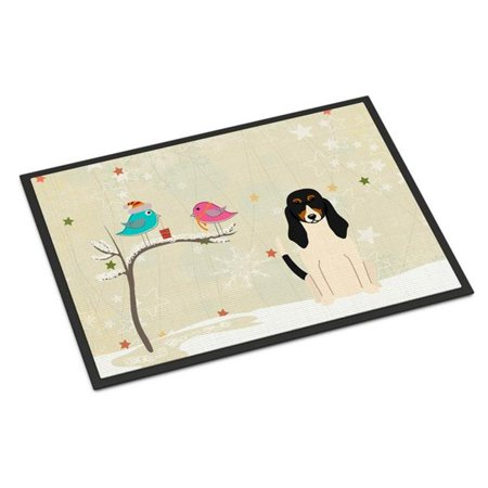 Carolines Treasures BB2516JMAT Christmas Presents Between Friends Swiss Hound Indoor or Outdoor Mat, 24 x 0.25 x 36 in. - image 1 of 1