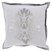 Surya Sparkling Damask Decorative Throw Pillow