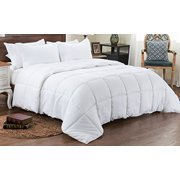 3pc Reversible Solid Emboss Striped Comforter Set Oversized And Overfilled 2 Bedding Looks