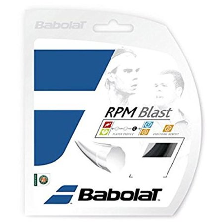 RPM Blast Black 16g Strings, Extruded monofilament with an octogonal profile By Babolat