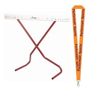 Champion Sports Bundle: Adjustable Training Hurdle Red / White with 1 Performall Lanyard PH-1P