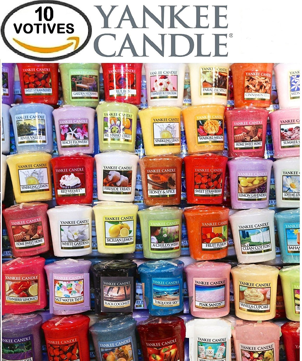 Yankee Candle Votives - Grab Bag of 10 Assorted Yankee Candle Votive  Candles (10 Ct Food & Spice Fragrances Mixed) By Grab Bag Yankee Candle