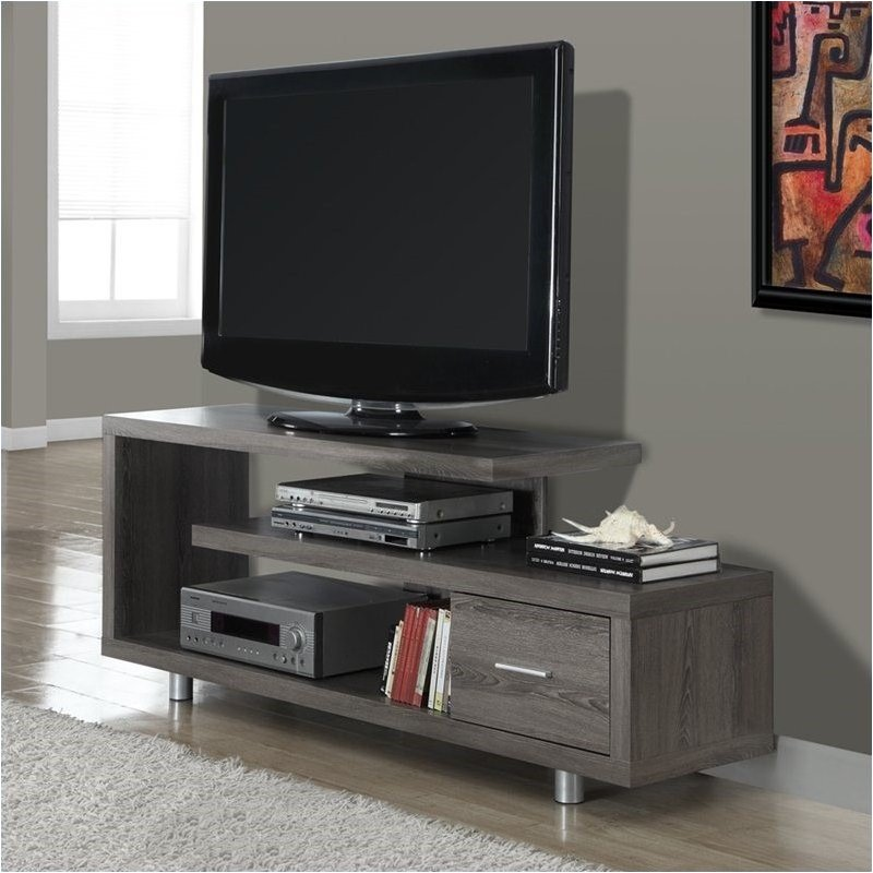 "Bowery Hill 60"" TV Console in Dark Taupe - image 1 of 2"