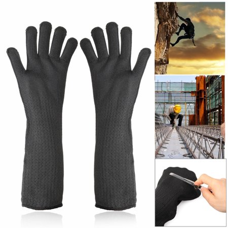1 Pair Cut Resistant Stainless Steel Wire Mesh Gloves Level