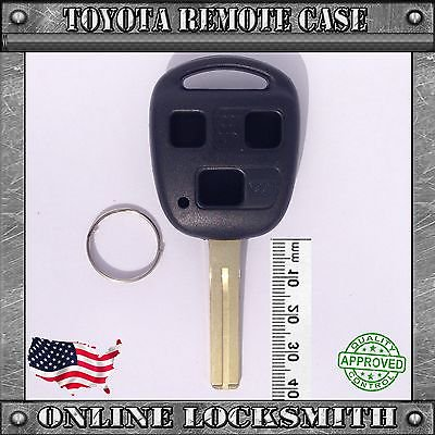 Keyless Blade Clamp (New Remote Key Keyless FOB Replacement Case 3 Button Short Blade Shell For Lexus )