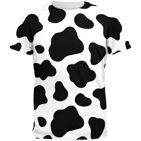 Cow Pattern Costume All Over Adult (Cow Chicken T-shirt)