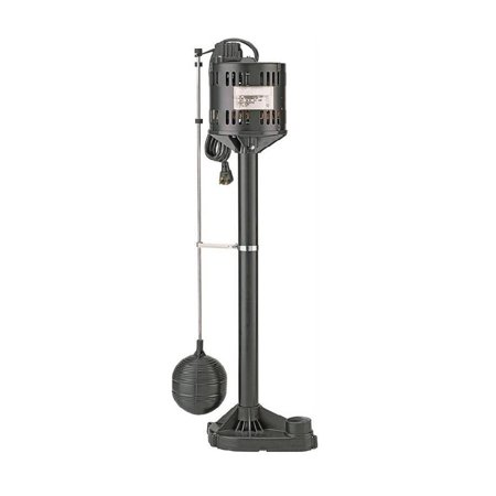 Sta Rite Sump Pumps (Sta-Rite Simer 5020B-04 Sump Pump with Float Switch, 1-1/4 in Inlet, 1-1/4 in Outlet, 3480 gph, 0.33 hp, Thermoplastic)