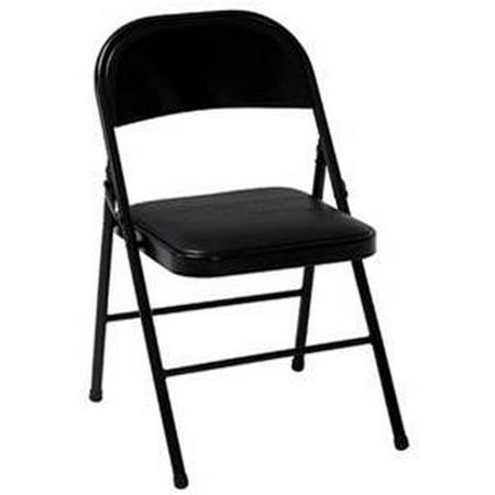 Mainstays Black Padded Folding Chair Walmart Com