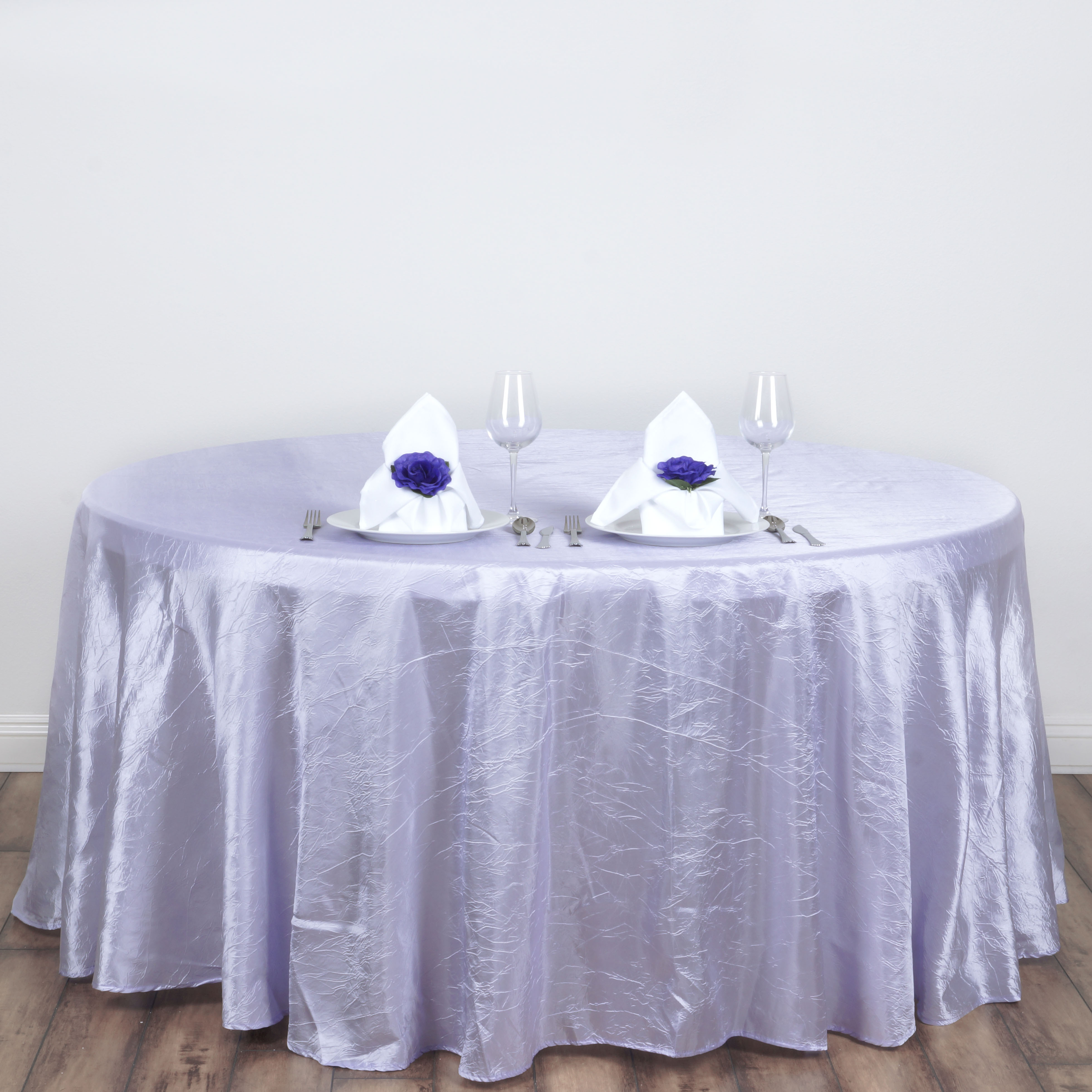 """BalsaCircle 117"""" Round Crinkled Taffeta Tablecloth for Party Wedding Reception... by BalsaCircle"""