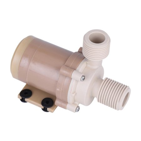 "Yosoo Hot Circulation Water Pump, Brushless Motor 1/2"" Couplers,Quite 12V DC Solar 100鈩?Hot Circulation Water Pump Brushless Motor 1/2"" Couplers"