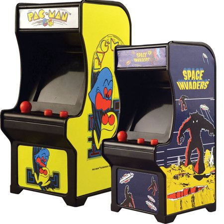 (Set) Miniature Classic Handheld Arcade Games Pac-Man and Space - Pacman For Kids