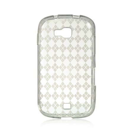 Samsung Galaxy Axiom Case, by Insten Checker TPU Rubber Candy Skin Case Cover For Samsung Galaxy Axiom SCH-R830 (U.S. Cellular)