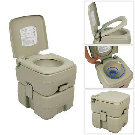 Palm Springs 5 Gallon Plastic Portable Flushing Toilet