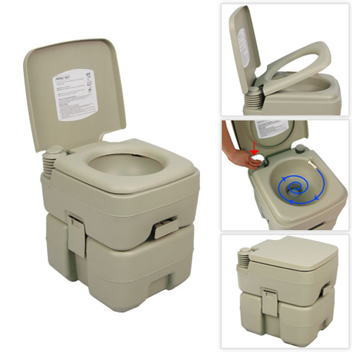 Palm Springs 5 Gallon Plastic Portable Flushing Toilet   Camping U0026 Outdoor  Potty