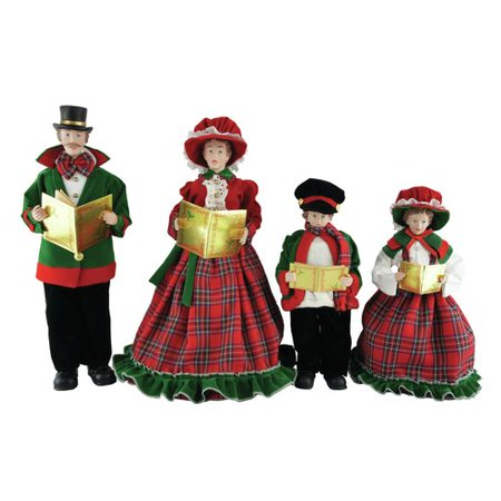 Santa's Workshop 4 Piece Christmas Day Caroler Figurine Set
