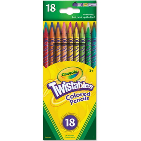 2 Pack - Crayola Twistables Colored Pencils, Assorted Colors 18 - Crayola 100 Colored Pencils