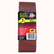 Ali Industries 7011 3 x 21 in. 80 Grit Aluminum Oxide Sand Belt, 5 Pack