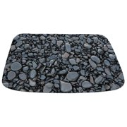 CafePress - Black Smooth Stones Mat - Decorative Memory Foam Bath Rug/Mat