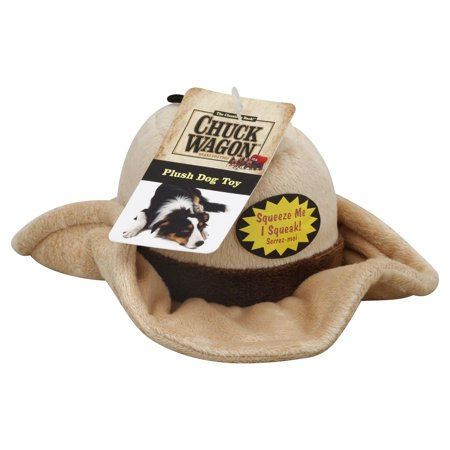 Plush Cowboy Hat Dog Toy With Squeaker Chuck Wagon Lot of (Best Ever Chuck Wagon Chili)