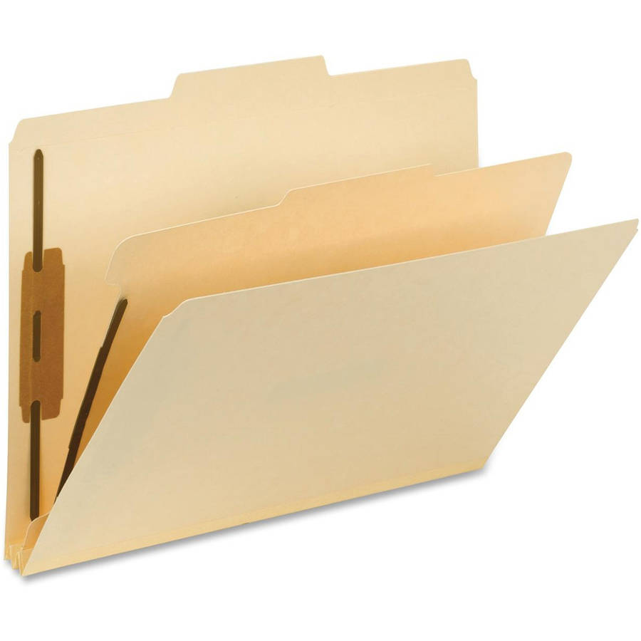 Smead 2/5-Cut ROC 1-Divider Classification Folders