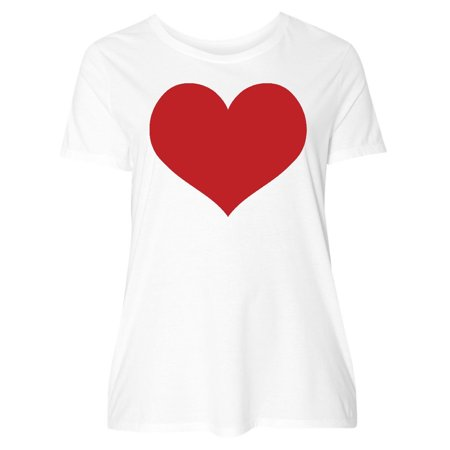 Red Heart Valentine Women's Plus Size T-Shirt (Hearts Plus)