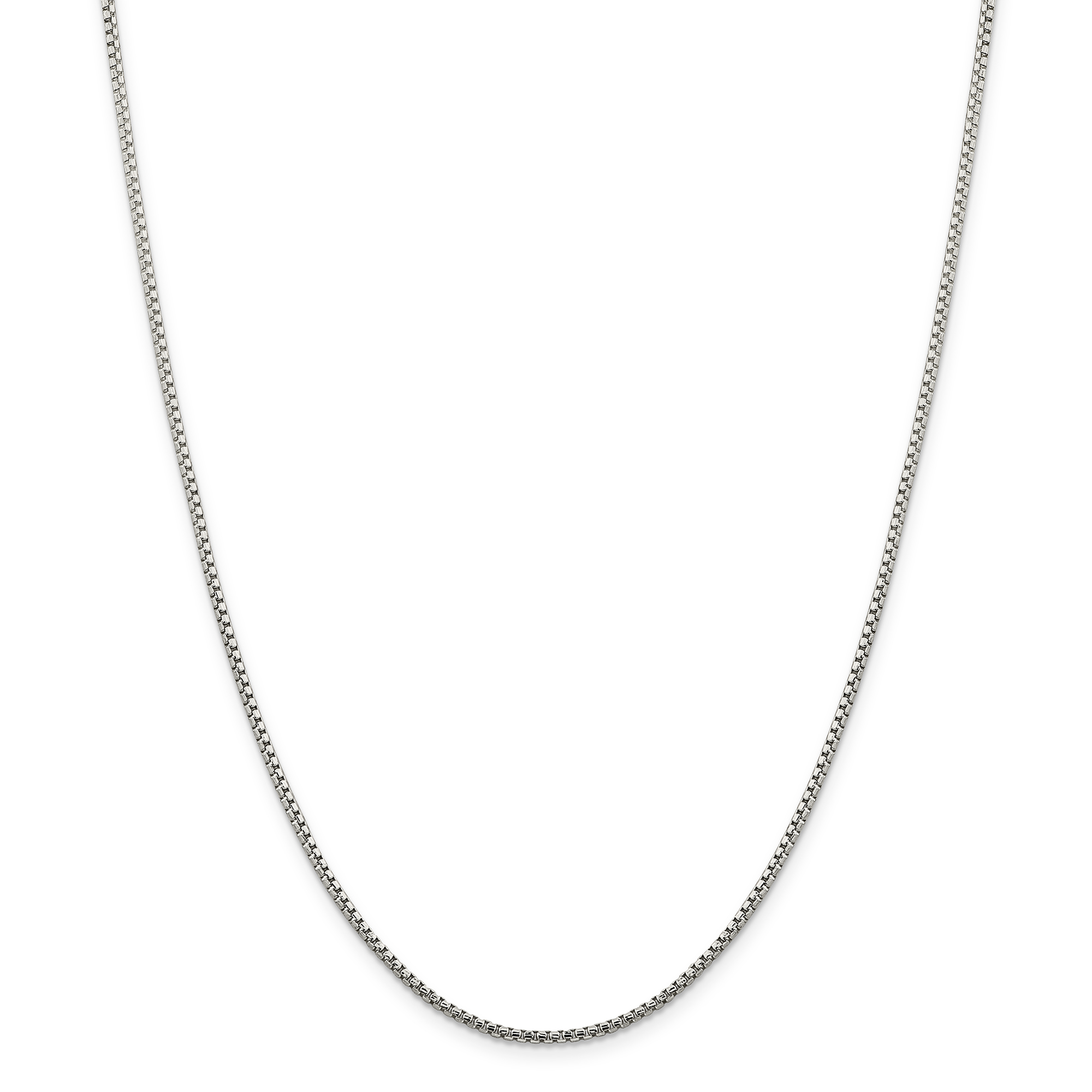 925 Sterling Silver 1.75mm Round Link Box Chain Necklace 30 Inch Pendant Charm Fine Jewelry Gifts For Women For Her - image 5 of 5