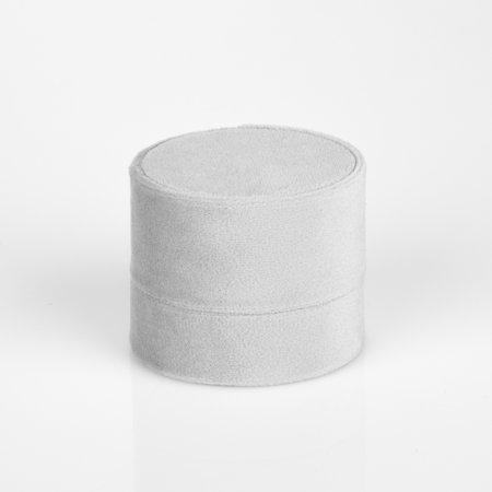Koyal Wholesale Double Oval Velvet Ring Box, Vintage Gray Wedding Ceremony Ring Box with Detachable Lid, 2 Piece Box - Wholesale Online Stores