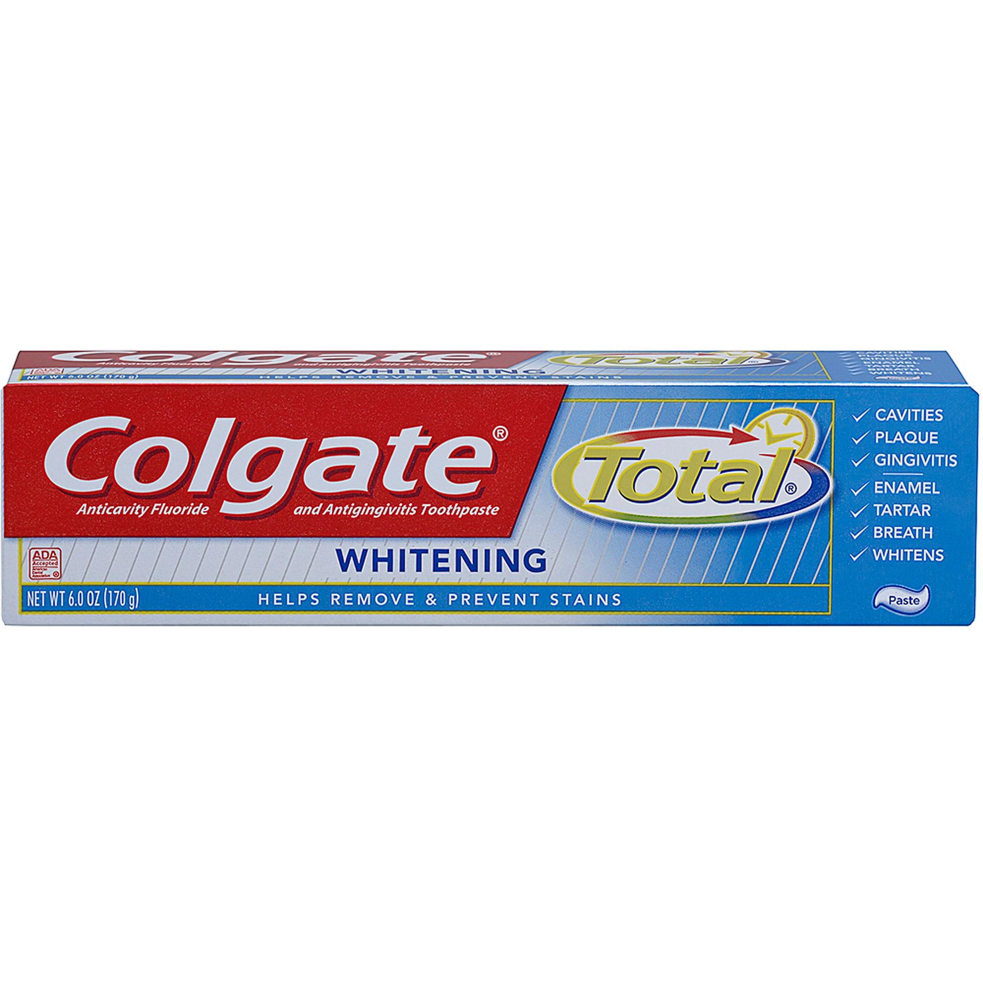 Colgate Total + Whitening Toothpaste, 6 oz
