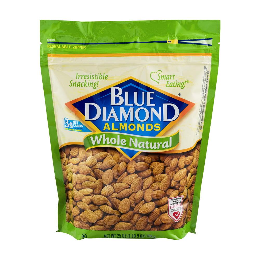Blue Diamond Almonds Whole Natural, 25.0 OZ by Blue Diamond Growers