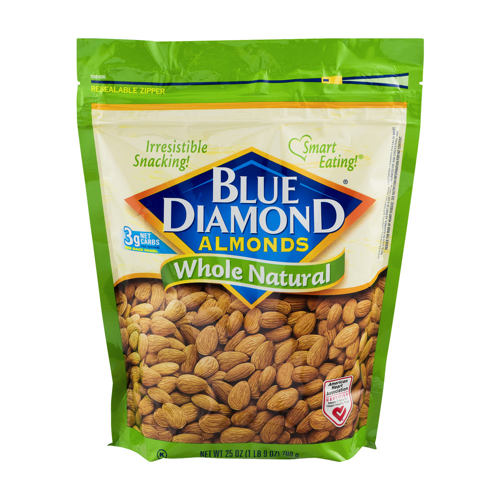 Blue Diamond Whole Natural Almonds, 25 oz