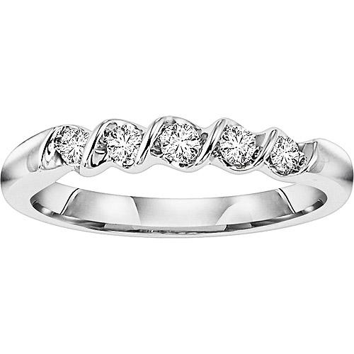 1/5 Carat T.W. Diamond Sterling Silver Figure-8 Band