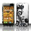 Insten Black Lotus Flower Floral Design Hard Phone Case For Alcatel One Touch Fierce 7024T