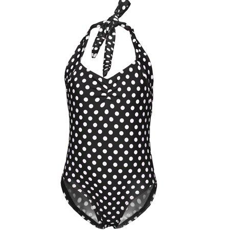 - Toddler Baby Girls Halterneck Polka Dot One Piece Bikini Beach Bathing Suit Monokini