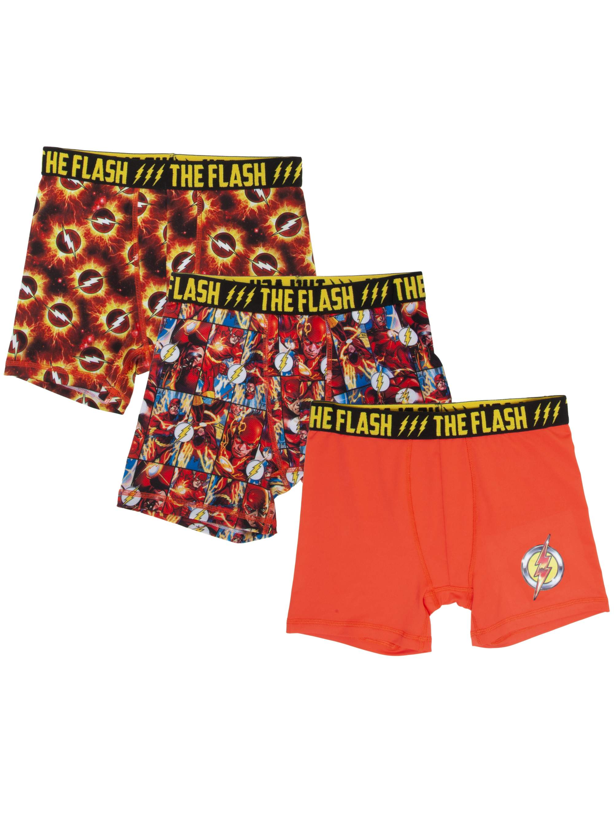Boy's DC Comics Flash 3-Pack Boxer Brief