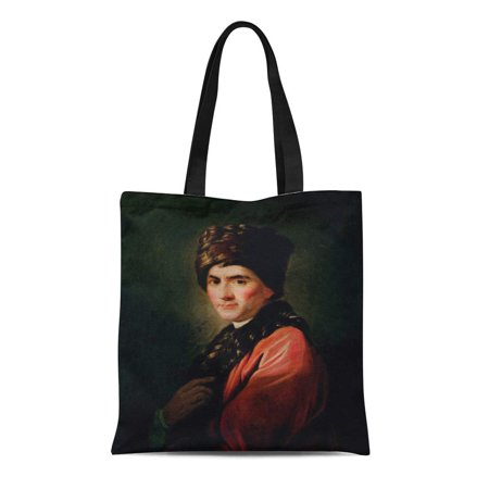 ASHLEIGH Canvas Tote Bag Allan Jean Jacques Rousseau Ramsay 18Th Philosopher Portrait Male Reusable Handbag Shoulder Grocery Shopping Bags