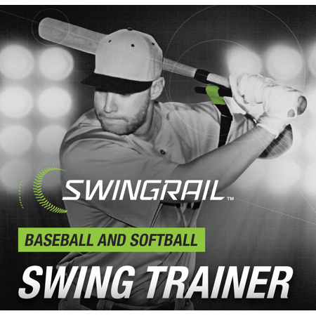 SWINGRAIL Baseball & Softball Swing Training Aid, Batting/Hitting Swing Trainer