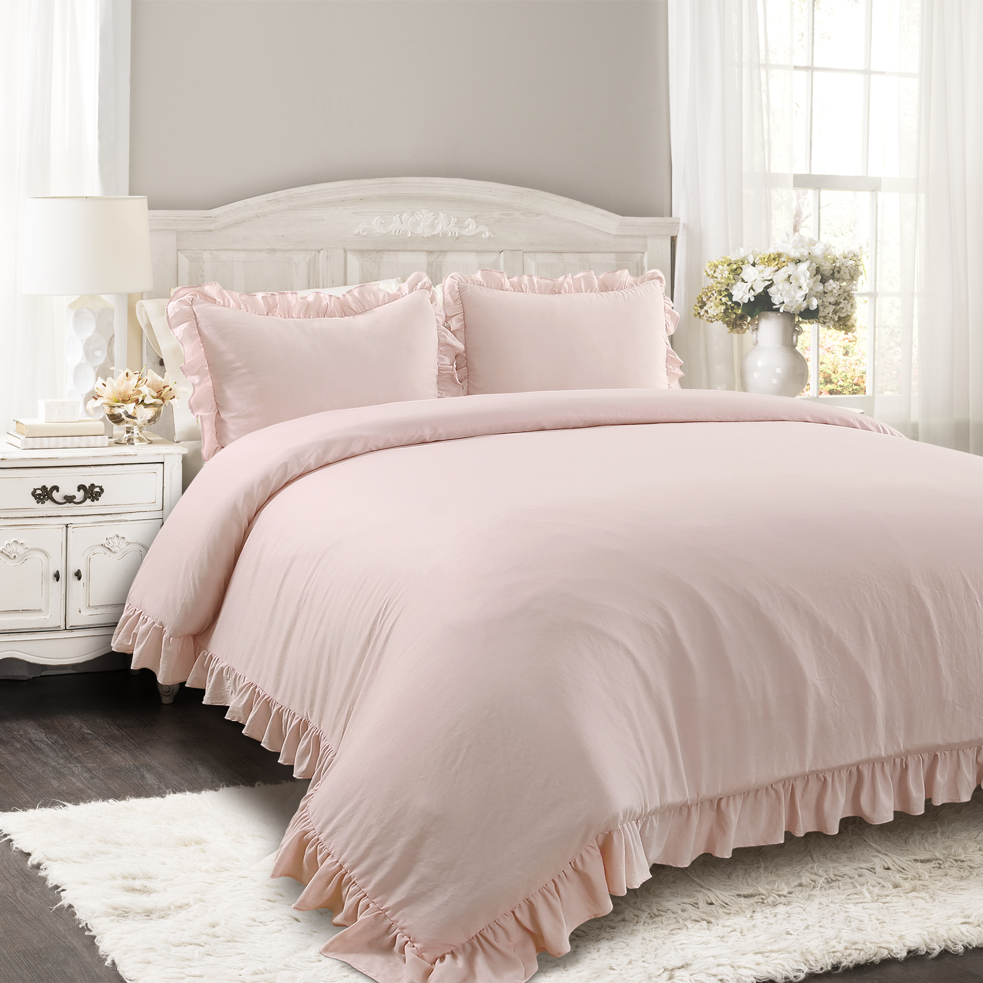 Reyna Comforter Blush 3Pc Set King