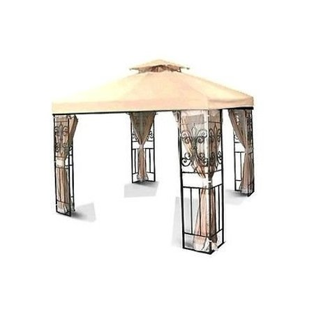 New MTN-G 10'x10' 2-Tiered Replacement Garden Gazebo Canopy Top Sun Shade