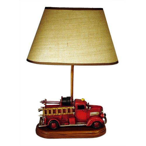 Judith Edwards Designs Antique Fire Engine 22'' H Table Lamp with Empire Shade