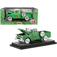 "1958 GMC Stepside Pickup Truck Aspen Green w/White Top ""HAYS"" Ltd Ed to 5,880 pcs 1/24 Diecast Model Car by M2 Machines"