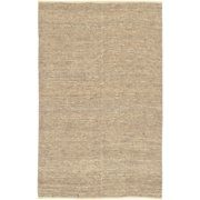 9 X 13 Crestele Solid Antique White Hand Woven Rectangular Jute Area Throw Rug