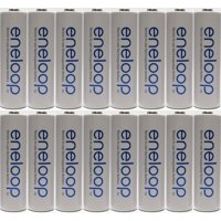 Newest Version Panasonic Eneloop 16 Pack AA NiMH Pre-Charged Rechargeable Batteries -FREE BATTERY HOLDER- Rechargeable 2100 Times