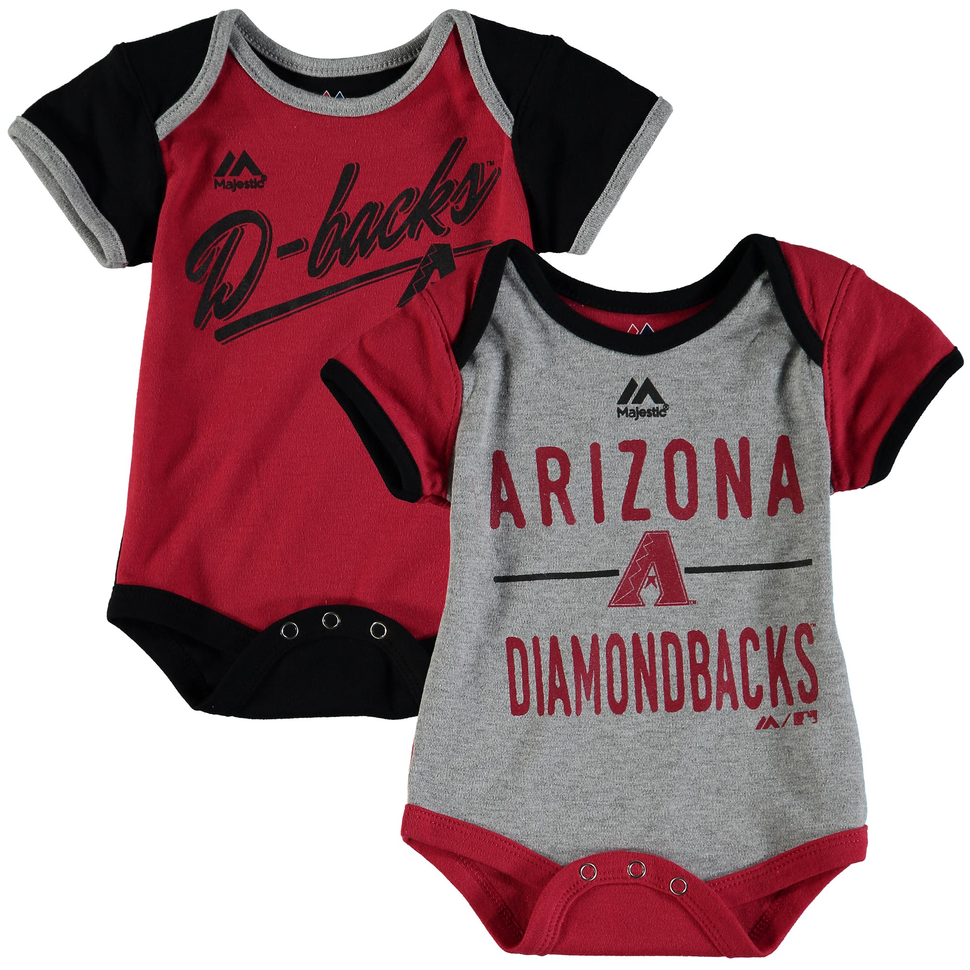 Arizona Diamondbacks Majestic Newborn & Infant 2-Piece Bodysuit Set - Red/Black
