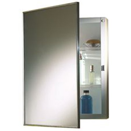 Nutone Recessed Swing-Door Medicine Cabinet, 16 In. X 22 In., Polished Stainless Steel Frame