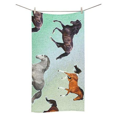 839 Bath (MYPOP Horse Bathroom Body Shower Towel Bath Wrap For Home Outdoor Travel Use Beach Bath Towels 30x56 inches)