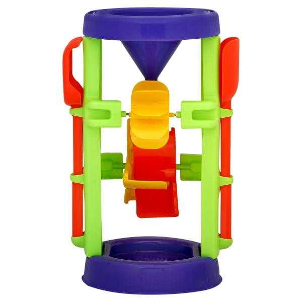 American Plastic Toys Sand and Water Wheel Set Orange /& Blue 02460