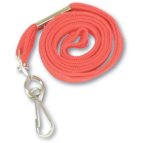"Advantus Deluxe Lanyards, J-Hook Style, 36"" Long, Red, 24/Box"