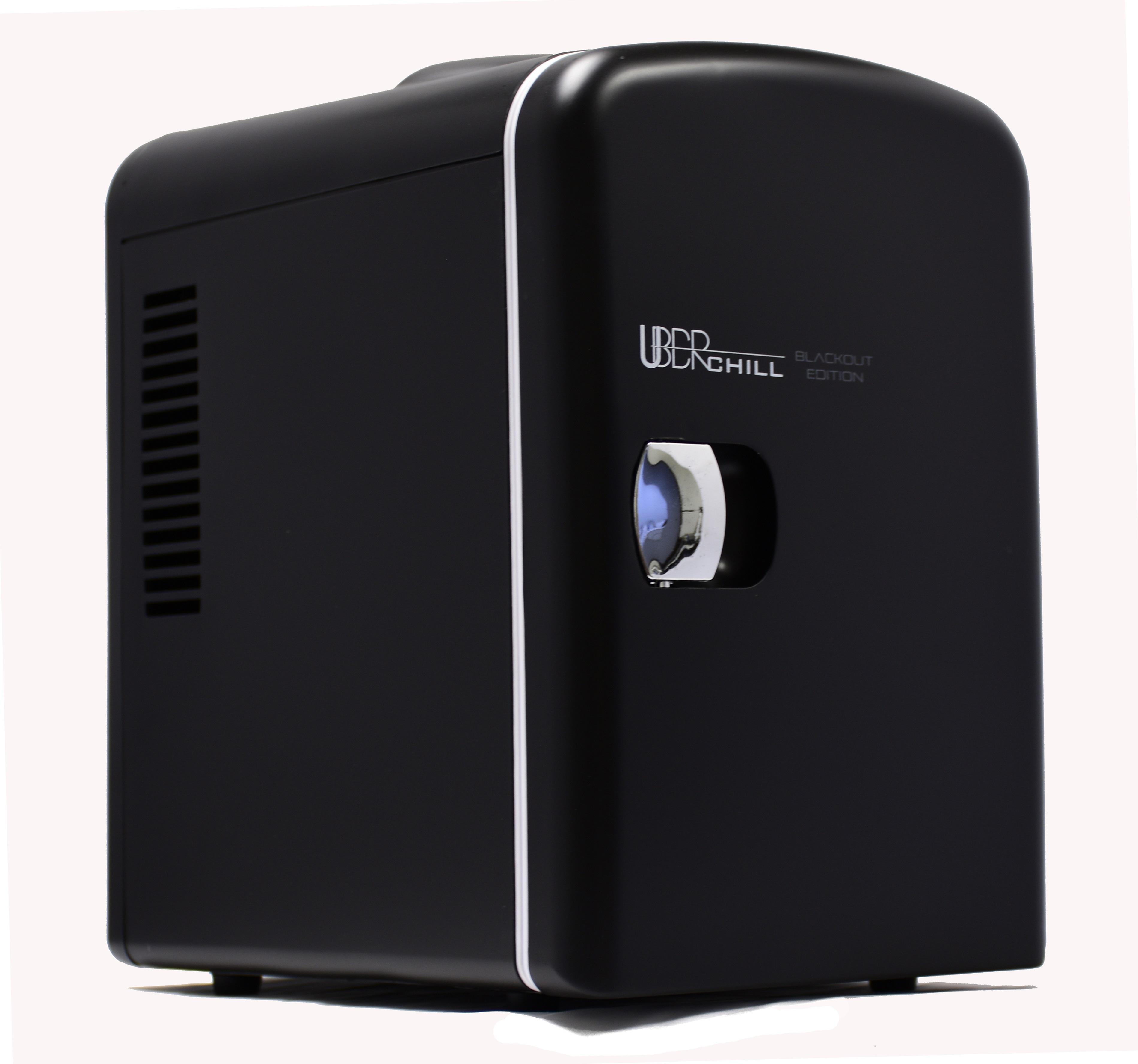 Uber Appliance UB-CH1 Portable 6-Can Cooler/Warmer Mini Fridge, Black